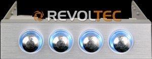 """Revoltec Lüftersteuerung 3.5"""" 4-Kanal, silber (RL020)"""