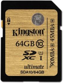 Kingston Ultimate R90/W45 SDXC 64GB, UHS-I, Class 10 (SDA10/64GB)