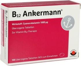 "B12 ""Ankermann"" überzogene Tabletten, 100 Stück"