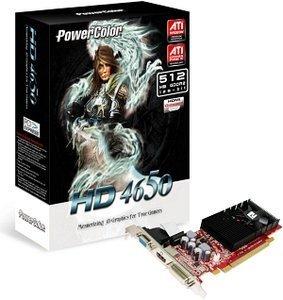 PowerColor Radeon HD 4650 low profile, 512MB DDR2, 2x DVI, TV-out (AX4650 512MD2-LHV2/R73BL-PE3)