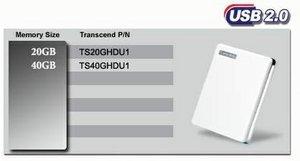 """Transcend Store Jet 1.8"""" 20GB, USB-A 2.0 (TS20GHDU1/TS20GSJ18)"""
