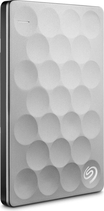 Seagate Backup Plus Ultra Slim silber 1TB, USB 3.0 Micro-B (STEH1000200)
