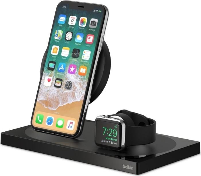 Belkin BoostUp Bold Wireless Charging Dock for Apple iPhone + Apple Watch Special Edition schwarz (F8J234vfBLK-APL)