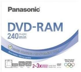 Panasonic DVD-RAM Disk 9.4GB 3x, Cartridge (LM-AD240LE)