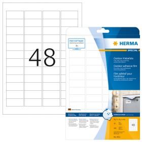 Herma Etiketten Outdoor 45.7x21.2mm, weiß, 10 Blatt (9531)