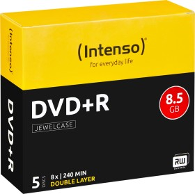 Intenso DVD+R 8.5GB DL 8x, 5-pack Jewelcase (4311245)