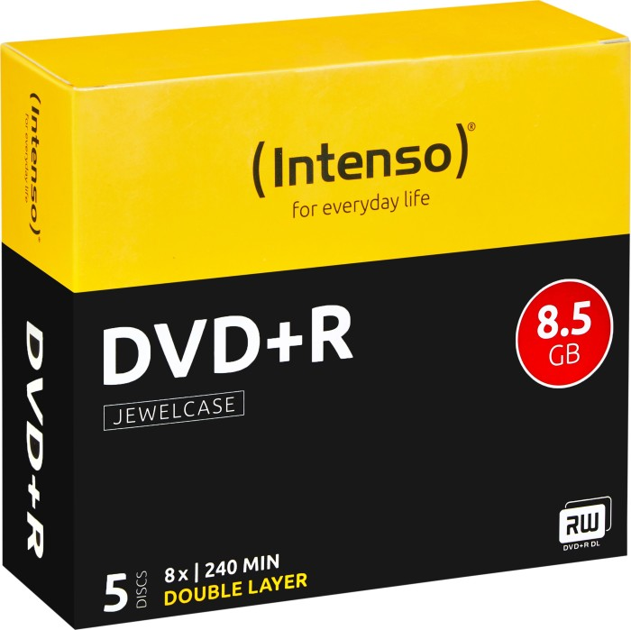 Intenso DVD+R 8.5GB DL 8x, 5er Jewelcase (4311245)