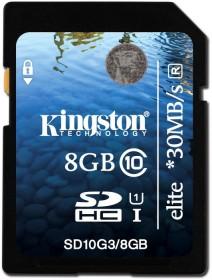 Kingston Elite R30 SDHC 8GB, UHS-I, Class 10 (SD10G3/8GB)