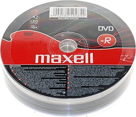 Maxell DVD-R 4.7GB,  10er-Pack -- via Amazon Partnerprogramm