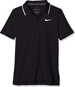Nike Court Dri-FIT Polo Shirt kurzarm schwarz/weiß (Junior) (BQ8792-010)