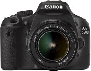 Canon EOS 550D schwarz mit Objektiv EF-S 18-55mm 3.5-5.6 IS II (4463B088)