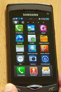 Samsung S8500 Wave metallic black -- ©TarifAgent.com