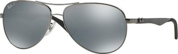 dce0834e16d Ray-Ban RB8313 61mm gunmetal polarized silver mirrored (RB8313-004 ...