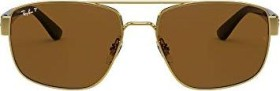 Ray-Ban RB3663 60mm gold-black/brown classic (RB3663-001/57)