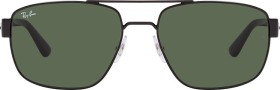 Ray-Ban RB3663 60mm black/green classic (RB3663-002/31)