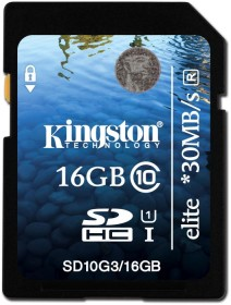 Kingston Elite R30 SDHC 16GB, UHS-I, Class 10 (SD10G3/16GB)