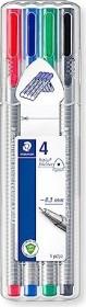 Staedtler triplus fineliner 334 0.3mm Box sortiert, 4er-Set (334 SB4)