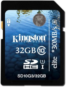 Kingston Elite R30 SDHC 32GB, UHS-I, Class 10 (SD10G3/32GB)