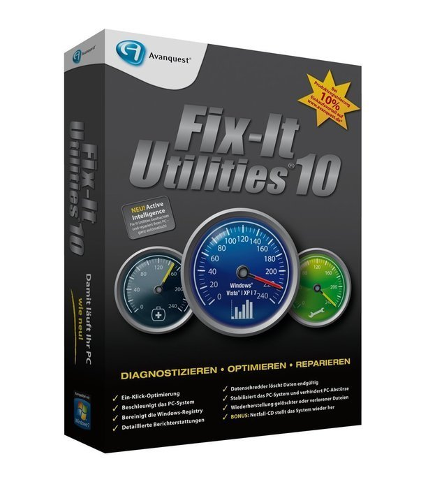 Avanquest: Fix-It Utilities 10.0 (deutsch) (PC)