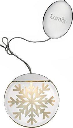 Krinner Weihnachtsbeleuchtung.Krinner Lumix Deco Lights Schneeflocke Led Fensterbild Warmweiß 76100