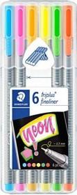 Staedtler triplus fineliner 334 0.3mm Box Neonfarben sortiert, 6er-Set (334 SB6CS3)