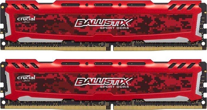 Crucial Ballistix Sport LT rot DIMM Kit 32GB, DDR4-3200, CL16-18-18 (BLS2C16G4D32AESE/BLS2K16G4D32AESE)