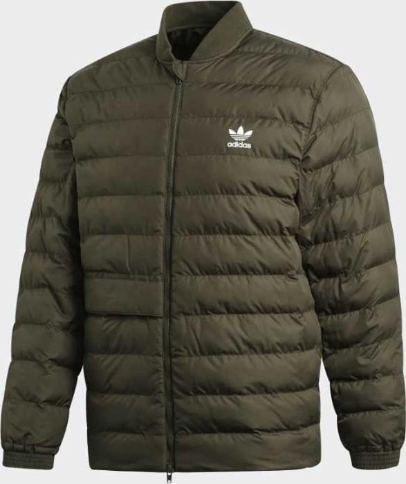 adidas Herren Superstar Outdoor Steppjacke Jacke, Oliv, L