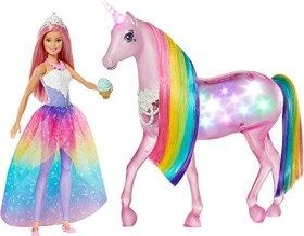Mattel Barbie Dreamtopia Magisches Zauberlicht Einhorn (FXT26)