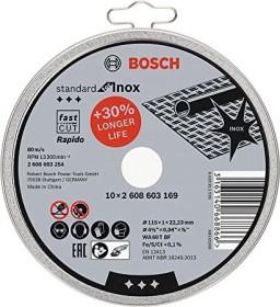 Bosch WA60TBF stainless steel Standard cut-off wheel 115x1mm, 10-pack (2608603254)