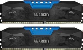 PNY Anarchy blau DIMM Kit 8GB, DDR4-2400, CL15 (MD8GK2D4240015AB)