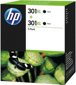HP Printhead with ink 301 XL black, 2-pack (D8J45AE)