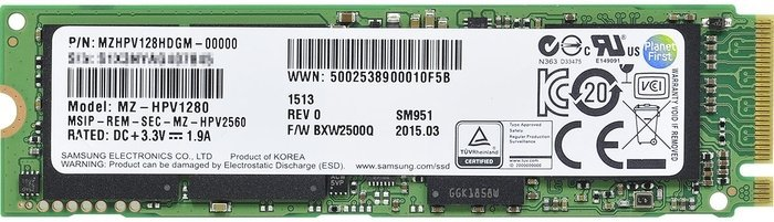 Samsung SSD SM951-NVMe 128GB, M.2 (MZVPV128HDGM-00000)