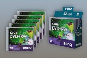BenQ DVD+RW 4.7GB, 5er-Pack