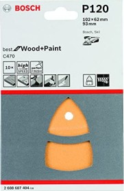 Bosch multi sander sheet C470 Best for Wood and Paint 102x62x93mm K120, 10-pack (2608607404)