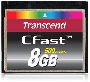 Transcend CFast CompactFlash Card (CF) 500x 8GB (TS8GCFX500)