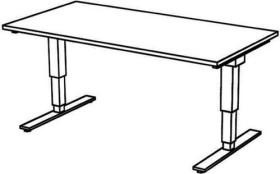 Hammerbacher Ergonomic Aktiv XDSM16/N/S, Nussbaum, Sitz-Steh-Schreibtisch