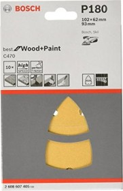 Bosch multi sander sheet C470 Best for Wood and Paint 102x62x93mm K180, 10-pack (2608607405)
