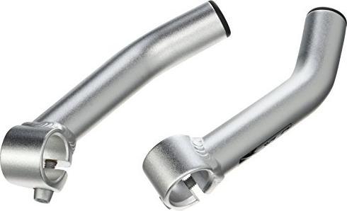 Radsport XLC Bar-Ends gebogen BE-A01 silber matt Fahrradteile & -komponenten