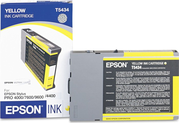 Epson T5434 tusz żółty (C13T543400)