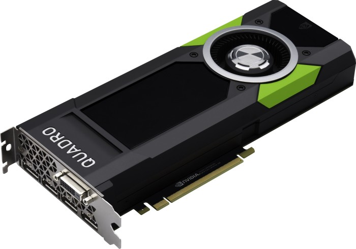 PNY Quadro P5000, 16GB GDDR5X, DVI, 4x DP (VCQP5000-PB/VCQP5000-5PB/XVCQP5000-PB)