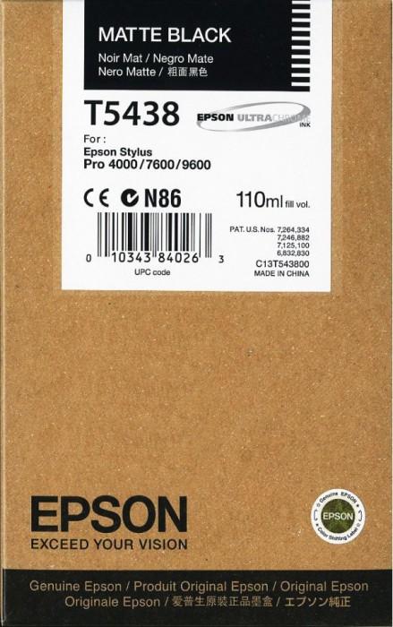 Epson tusz T5438 czarny matowy (C13T543800)