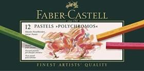 Faber-Castell Polychromos Pastellkreide Etui sortiert, 12er-Set (128512)