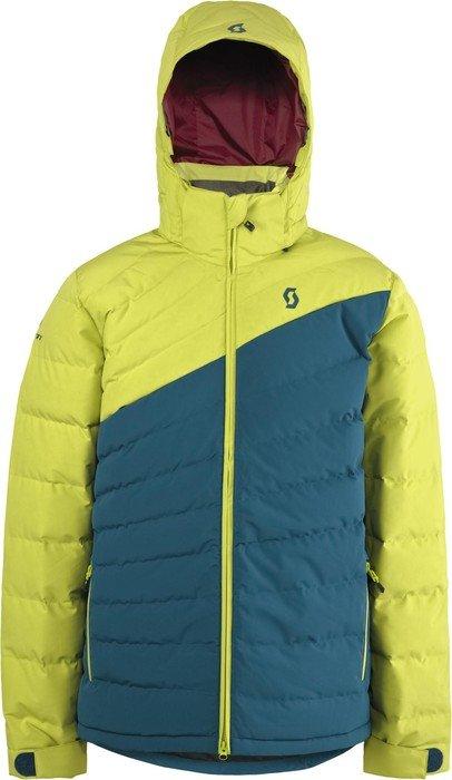 scott terrain down skijacke chartreuse yellow ink blue. Black Bedroom Furniture Sets. Home Design Ideas