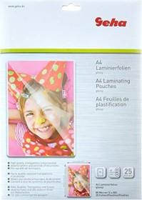 Geha laminating film A4, 80µm, shiny, 25-pack (93380)