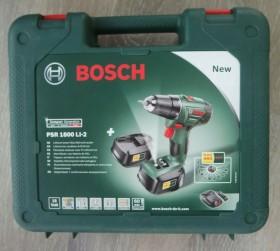 Bosch DIY PSR 1800 LI-2 cordless screw driller incl. 2 Batteries 1.5Ah (06039A3101)
