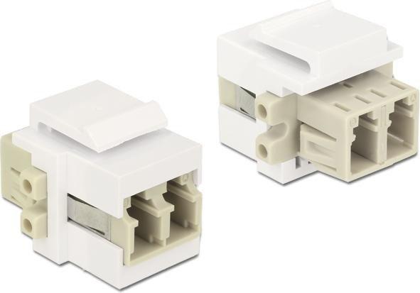 DeLOCK Keystone Modul LC Duplex Buchse/Buchse (86347)