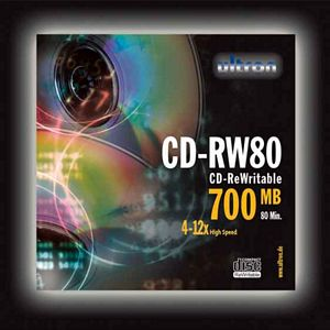 Ultron CD-RW 80min/700MB, 10-pack