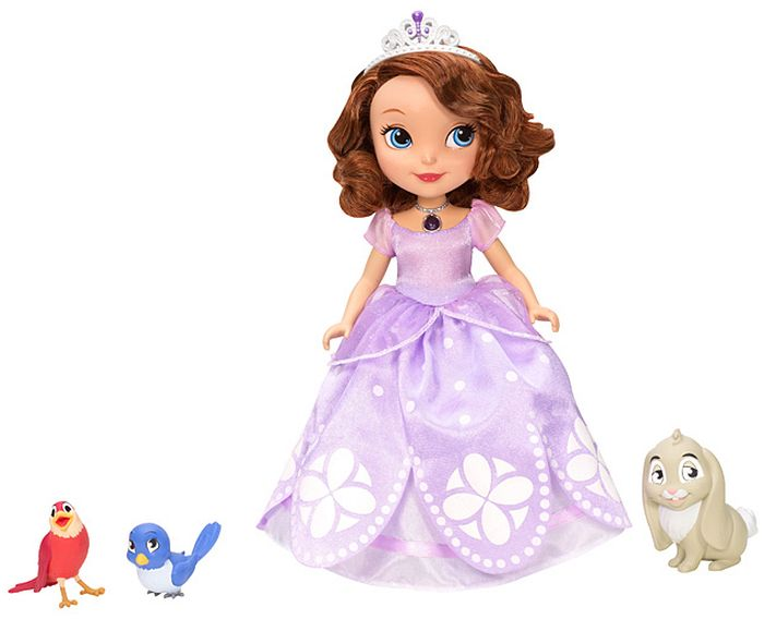 mattel barbie disney princess sofia die erste sprechende sofia und ihre tierfreunde bbm27 ab. Black Bedroom Furniture Sets. Home Design Ideas