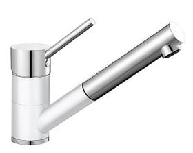 Blanco Antas-S HD silgranitweiß/chrom (515350)