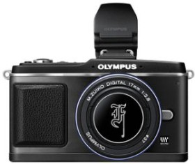 Olympus PEN E-P2 schwarz Special Edition mit Objektiv M.Zuiko digital 17mm 2.8 Pancake und VF-2 Aufstecksucher (N4281492)